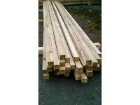 New 2x2x4.8m(16ft) Sawn Pressure Treated Timber