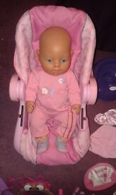 Baby Born Doll with Accessories and Clothes