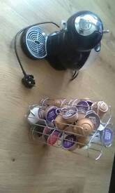 Nescafe dolce gusto with pod stand a lots of pods