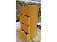 SMALL WOOD 8 DRAWER CHEST OF DRAWERS IDEAL ART BITS CD WORK ROOM TOOL SHED GARAGE MAN CAVE ARTIST