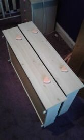 Under bed pine drawers