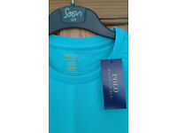 Ralph Lauren Men's Turquoise Custom - Fit T Shirt - Size Medium with tag