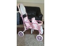 Baby Annabelle double buggy