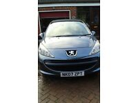 PEUGEOT 207 1.4, 2007, COLOUR:IRON FULLY SERVICED & MOT IN JULY 2017