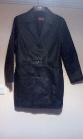 Ladies Leather Coat sz10