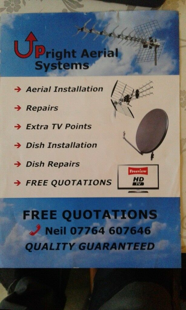 Aerials & satellite services from an extra tv