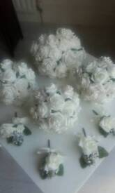 Beautiful Ivory Wedding Flowers with Broches
