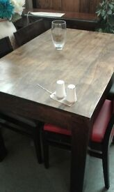 lovely thakat table and 4 chairs £140.00