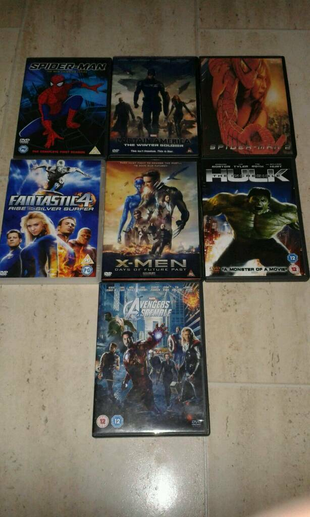 Dvd bundle: Avengers, Spider-Man, hulk, ninja turtles etc