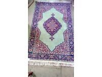 Persian Handmade Traditional Rug Green Blue Red
