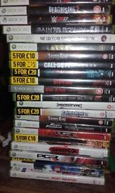 Xbox360 for sale with games