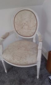 french shabby chic style occassional chair.