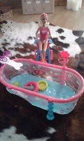 Barbie lifeguard and swimming pool