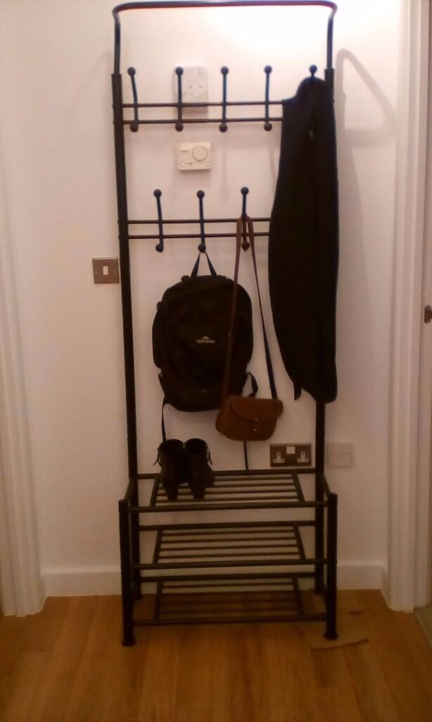 coat rack shoe rack storage combo in stratford london gumtree. Black Bedroom Furniture Sets. Home Design Ideas