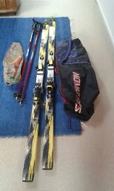 ROSSIGNOL SKIS and POLES