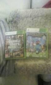 Gta v & Minecraft xbox 360