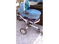 Quinny multi stroller teal and mustard