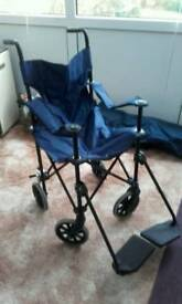Foldable adult size wheel chair