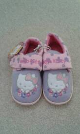 Girls slippers, size 10, Hello Kitty, brand new with tags