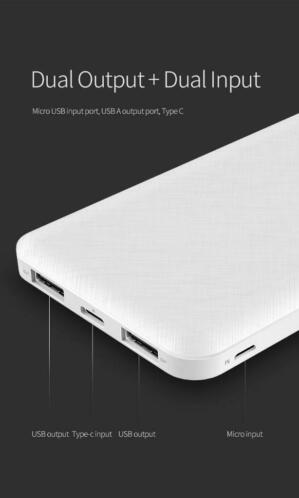 Stylish type-C 10,000 mAh powerbank