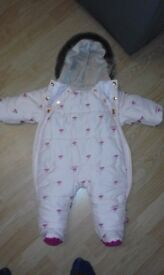 0-3 months hardly worn ted baker snow suit