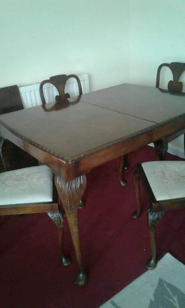 Old table and 4 chairs in North Petherton Somerset  : 86 from www.gumtree.com size 614 x 1024 jpeg 41kB