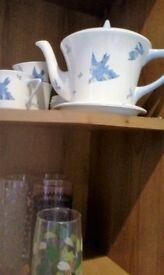 Bone China cups and saucers teapot