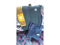Portstewart Golf Club navy jumper (used), black sleeveless jumper (brand new) and towel