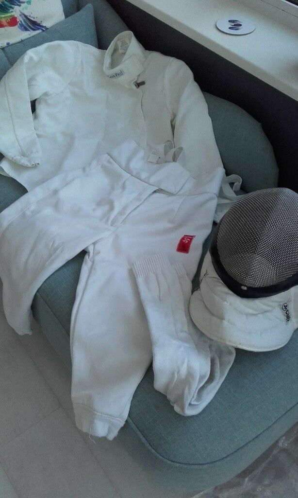 Fencing outfit - mask, breeches, socks, jacket  Suit boy age 10 - 12 yrs |  in Witney, Oxfordshire | Gumtree