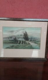 Lovely original framed watercolour signed and dated 1872 J Leslie...40cmx32cm