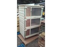 3 tier rabbit hutch
