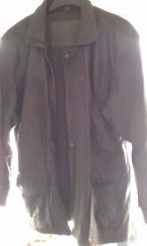 Mens leather jacket brown medium