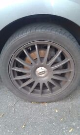 Team dynamic Alloy wheels 17 excellent condition including spacers and bolts