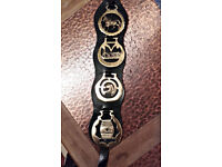 Set of 4 Horse Brasses on heavy leather
