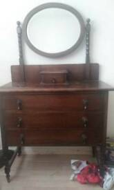 Antique FRENCH DRESSER 3DRAW