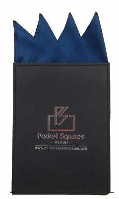 Mens Pocket Square Handkerchief Wedding Style Italian Silk Conquistador Navy