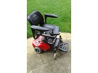 power chair very good condition.only been used indoors.will fit in car boot.good batteries.