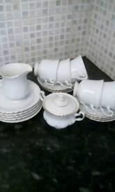 Vintage Chodziez china tea set,( 19 pieces).
