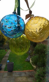 3 Large Glass Baubles