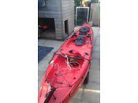 sea fishing kayak 14feet with rudder