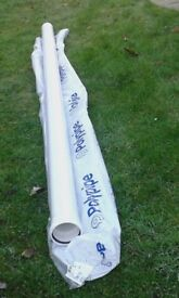 1x 3m Length 110dia White Polypipe. Brand new.