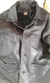 Men 3/4 leather coat