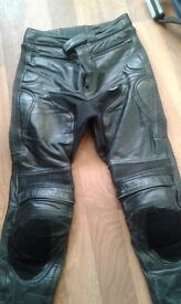 Genuine belstaff leather motorcycle trousers