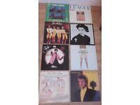 8X ORIGINAL VINYL RECORDS.