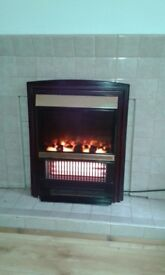 Electric living flame fire front