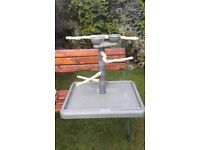 Parrot Bird Table Top Play Stand Gym USA Import PVC