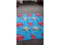Cars/lightning mqueen curtains and matching light shade