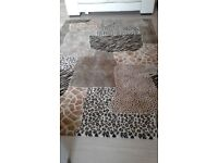 Living room rug. Animal print.