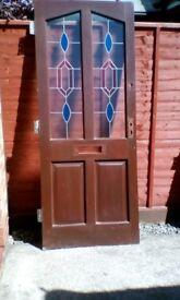 Hard wood external door