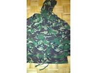 Army brand new camouflage full zip hooded smock jacket